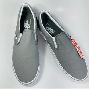 Vans Grey Off The Wall Slip On Shoes